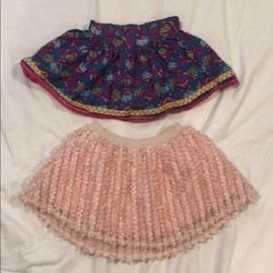 Set of 2 toddler girl skirts, 18M